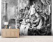 The Judgement of Christ, c.1636 (etching) wall mural living room preview