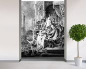 The Judgement of Christ, c.1636 (etching) wall mural in-room view