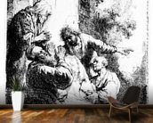 Josephs coat brought to Jacob, c.1633 (etching) wallpaper mural kitchen preview