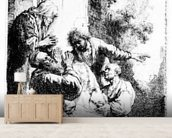 Josephs coat brought to Jacob, c.1633 (etching) wallpaper mural living room preview