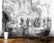 Christ carried to the tomb, c.1645 (etching) mural wallpaper kitchen preview
