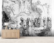 Christ carried to the tomb, c.1645 (etching) mural wallpaper living room preview