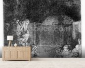 The Entombment, c.1654 (etching) wall mural living room preview