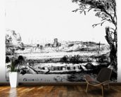 View of a Canal, 1650 (etching) mural wallpaper kitchen preview