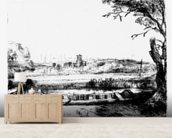 View of a Canal, 1650 (etching) mural wallpaper living room preview