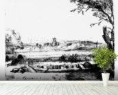 View of a Canal, 1650 (etching) mural wallpaper in-room view