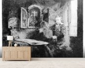 Portrait of Abraham Francen, c.1657 (etching) wall mural living room preview