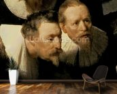 The Anatomy Lesson of Dr. Nicolaes Tulp, 1632 (oil on canvas) (detail of 7543) wallpaper mural kitchen preview