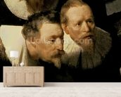 The Anatomy Lesson of Dr. Nicolaes Tulp, 1632 (oil on canvas) (detail of 7543) wallpaper mural living room preview