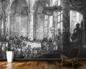 Medea, or the Marriage of Jason and Creusa, 1648 (etching) (b/w photo) wall mural kitchen preview
