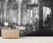 Medea, or the Marriage of Jason and Creusa, 1648 (etching) (b/w photo) wall mural living room preview