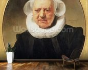 Portrait of Aechje Claesdar, 1634 (oil on oak) wall mural kitchen preview