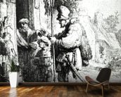 The Ratcatcher, 1632 (etching) (b/w photo) wallpaper mural kitchen preview