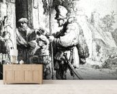 The Ratcatcher, 1632 (etching) (b/w photo) wallpaper mural living room preview