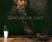 Portrait of the Artist at his Easel, 1660 (oil on canvas) wall mural kitchen preview