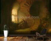 Philosopher in Meditation, 1632 (oil on panel) wallpaper mural kitchen preview