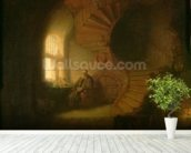 Philosopher in Meditation, 1632 (oil on panel) wallpaper mural in-room view