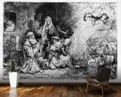 The Angel departing the family of Tobias, 1641 (etching) wall mural kitchen preview