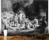 Christ preaching in a rocky landscape, c.1645 (etching) wallpaper mural kitchen preview