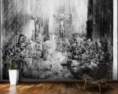 The Three Crosses, 1653 (etching) mural wallpaper kitchen preview