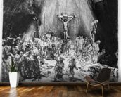 The Three Crosses, 1653 (drypoint) wall mural kitchen preview