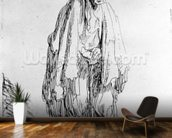Beggar in a high cap, c.1630 (etching) wallpaper mural kitchen preview