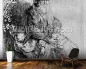 Abraham holding young Isaac, c.1637 (etching) mural wallpaper kitchen preview