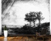 The Three Trees, engraved by James Bretherton (etching) wall mural kitchen preview
