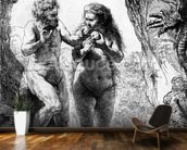 Adam and Eve, 1638 (etching) wallpaper mural kitchen preview