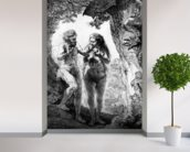 Adam and Eve, 1638 (etching) wallpaper mural in-room view