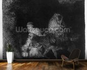 The Flight into Egypt, 1651 (etching) wallpaper mural kitchen preview