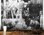 The Descent from the Cross, 1654 (etching) mural wallpaper kitchen preview