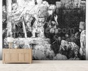 The Descent from the Cross, 1654 (etching) mural wallpaper living room preview