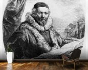 Jan Uytenbogaert, Preacher of the Remonstrants, 1635 (etching) mural wallpaper kitchen preview