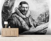 Jan Uytenbogaert, Preacher of the Remonstrants, 1635 (etching) mural wallpaper living room preview
