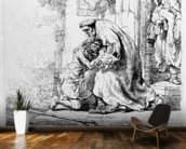 Return of the Prodigal Son, 1636 (etching) wall mural kitchen preview
