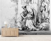 Return of the Prodigal Son, 1636 (etching) wall mural living room preview