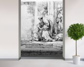 Return of the Prodigal Son, 1636 (etching) wall mural in-room view