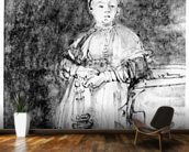 Woman with a Candle, c.1631 (pen, ink & wash on paper) wall mural kitchen preview