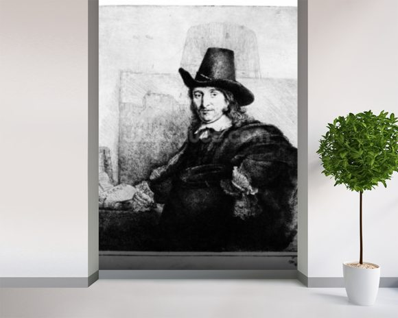 Jan Asselyn, c.1647 (etching) wall mural room setting
