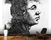 Head of a woman, 1637 (etching) wallpaper mural kitchen preview