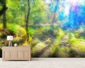Light Autumn Trail wall mural living room preview