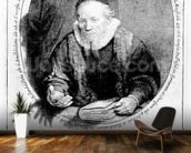 Jan Cornelisz Sylvius, 1646 (etching) wallpaper mural kitchen preview