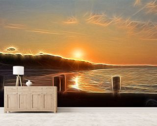 Light New Day wall mural