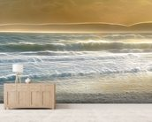 Light Seaspray mural wallpaper living room preview