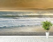 Light Seaspray mural wallpaper in-room view