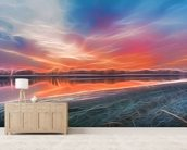 Light Shoreline mural wallpaper living room preview