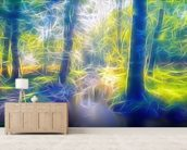 Light Stream Ambling wallpaper mural living room preview