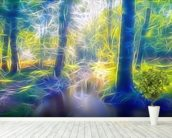 Light Stream Ambling wallpaper mural in-room view