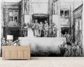 Christ Presented to the People, 1655 (drypoint) wall mural living room preview